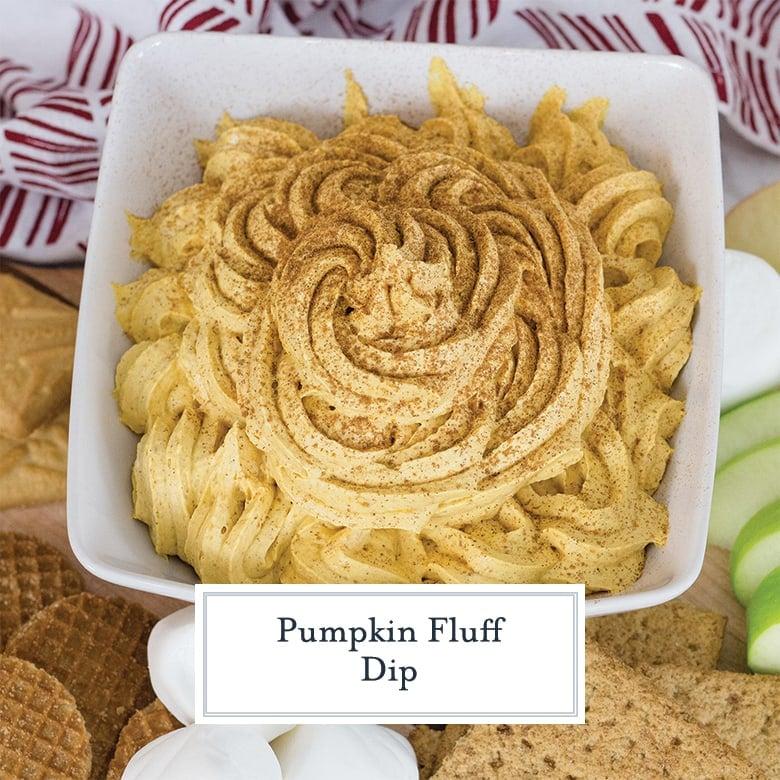 pumpkin fluff in a white bowl
