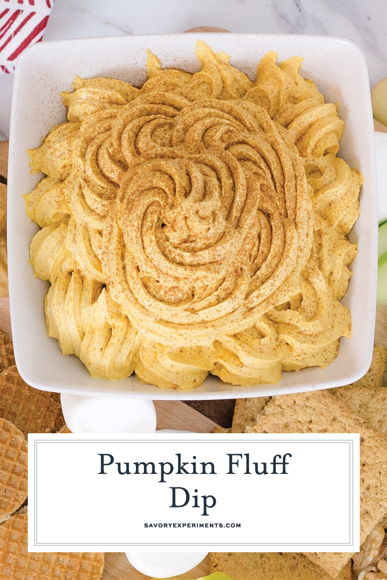 overhead of pumpkin fluff for dessert