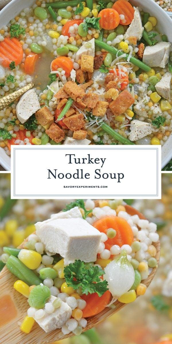 leftover turkey noodle soup for pinterest