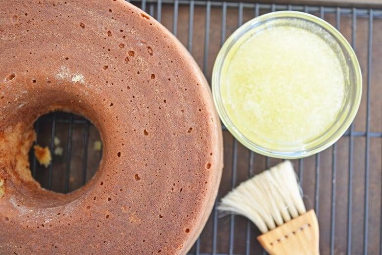 bundt cake with butter glaze