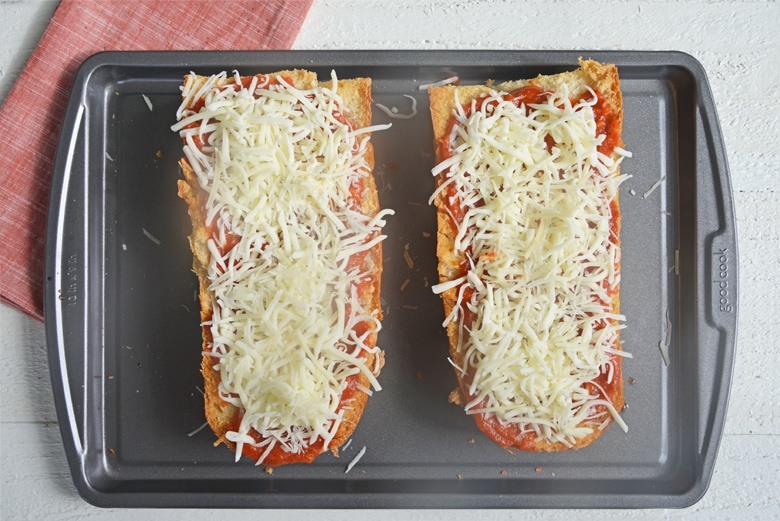 cheese on french bread pizza