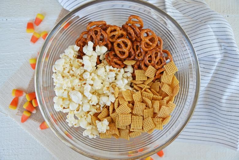 snack mix base ingredients