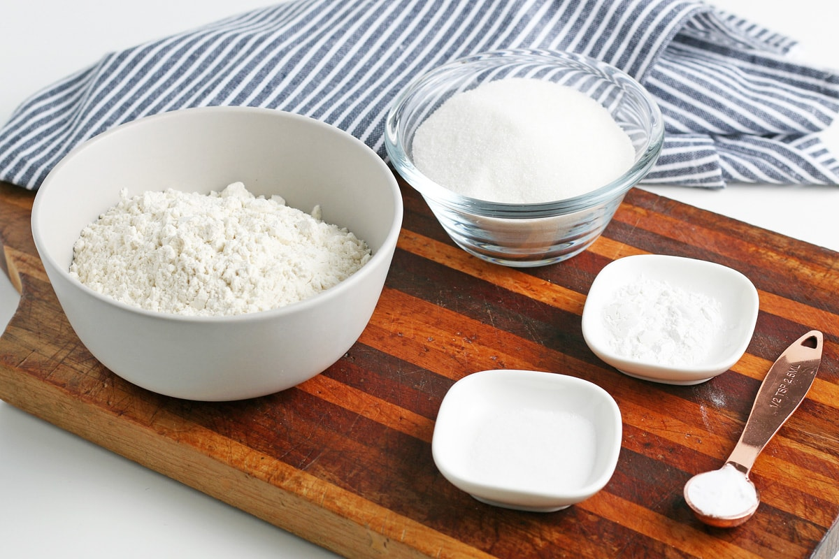 ingredients for homemade cake mix