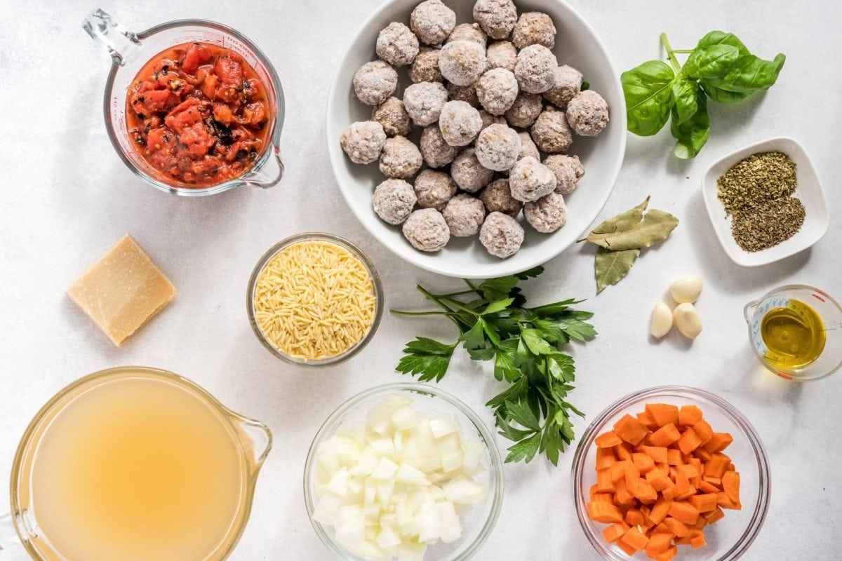 ingredients for meatball soup