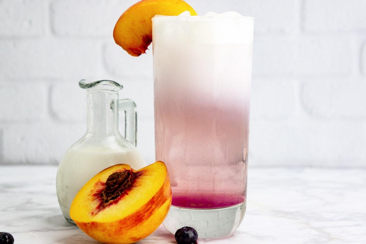 peach Italian soda