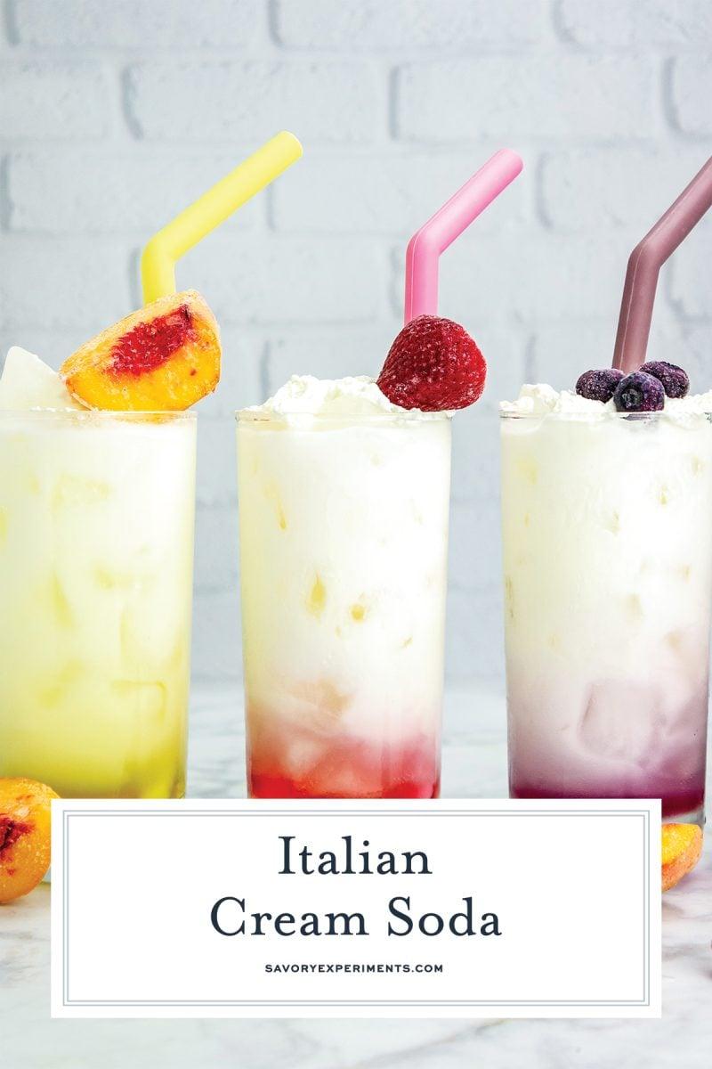 close up of italian sodas for pinterest