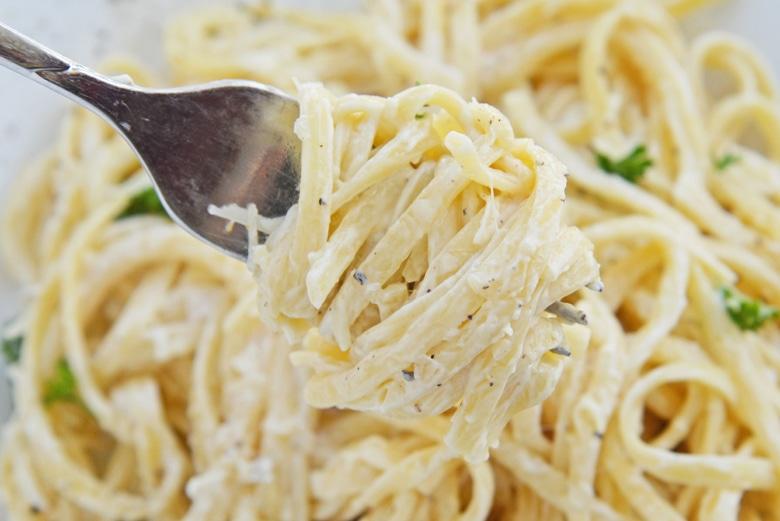 fork twisting linguine noodles