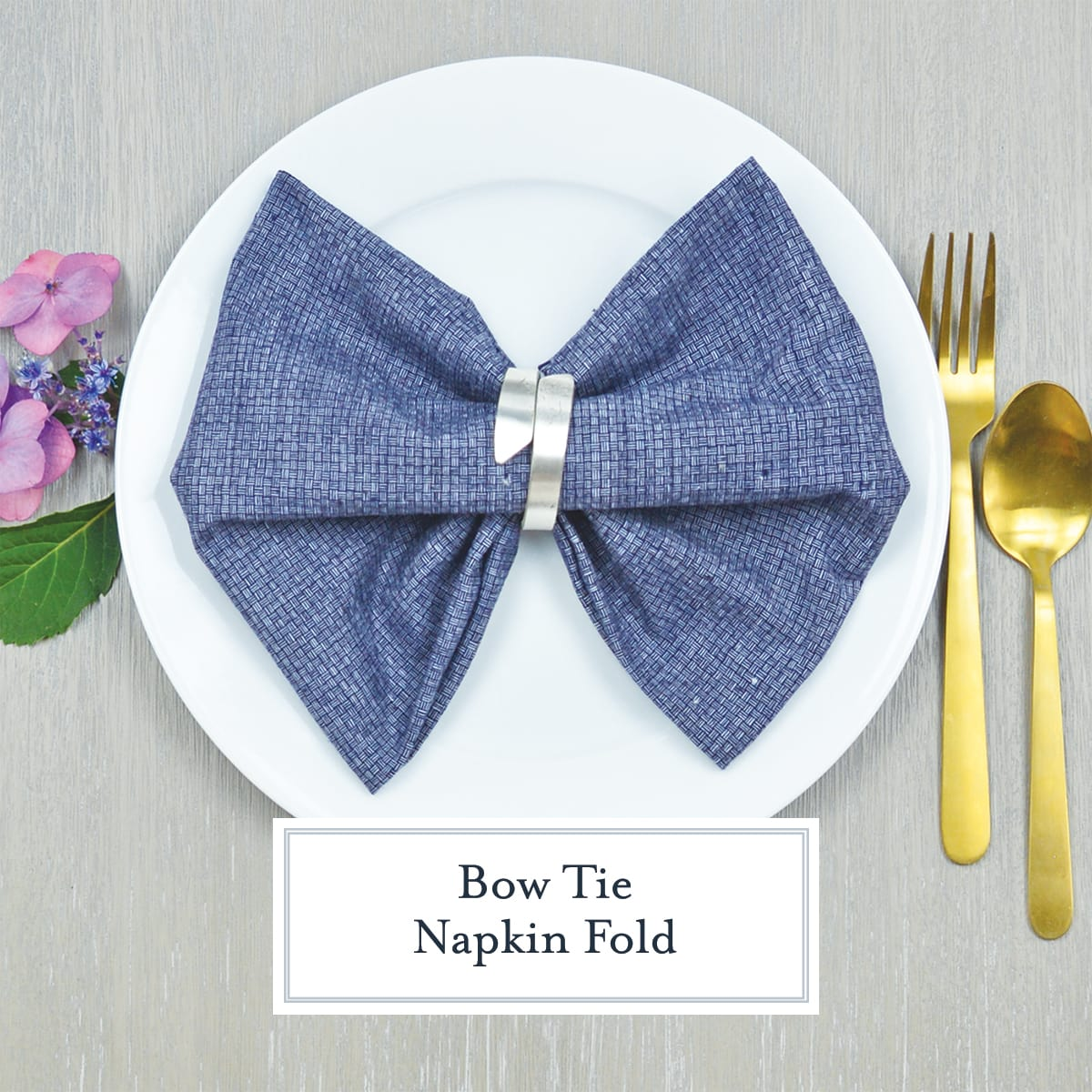 Bow Tie Napkin Fold Step By Step Photos Instructions