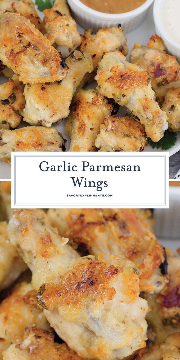 garlic parmesan wings for pinterest