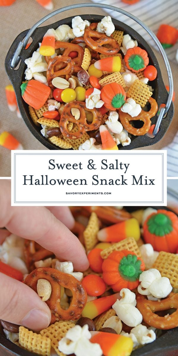 no bake sweet and salty snack mix for pinterest