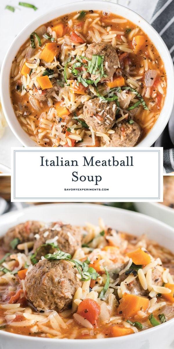 italian meatball soup for pinterest