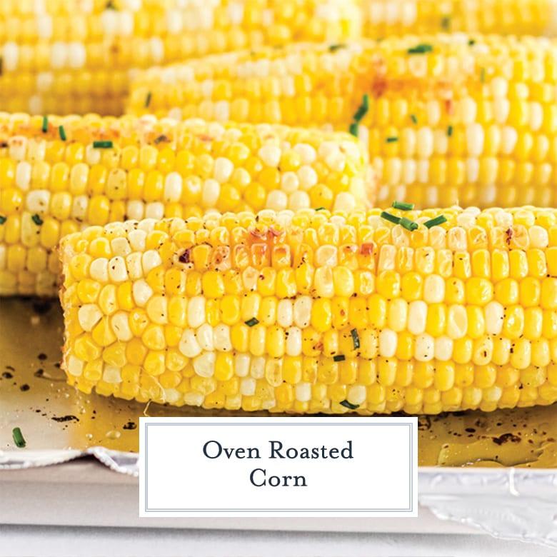 close up of half ear of roast corn