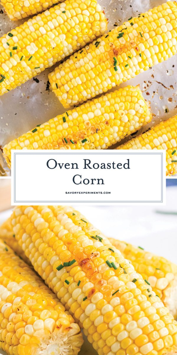 oven roasted corn on the cob for pinterest