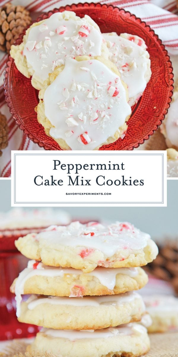 peppermint cake mix cookies for pinterest