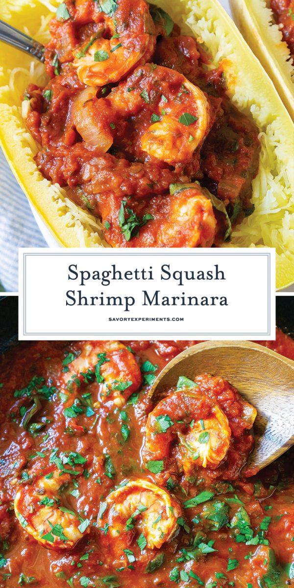 spaghetti squash marinara for pinterest