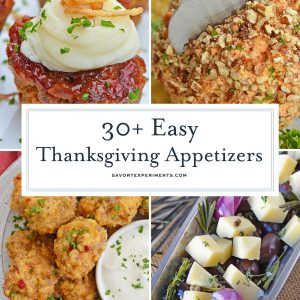 collage of thanksgiving appetizer ideas