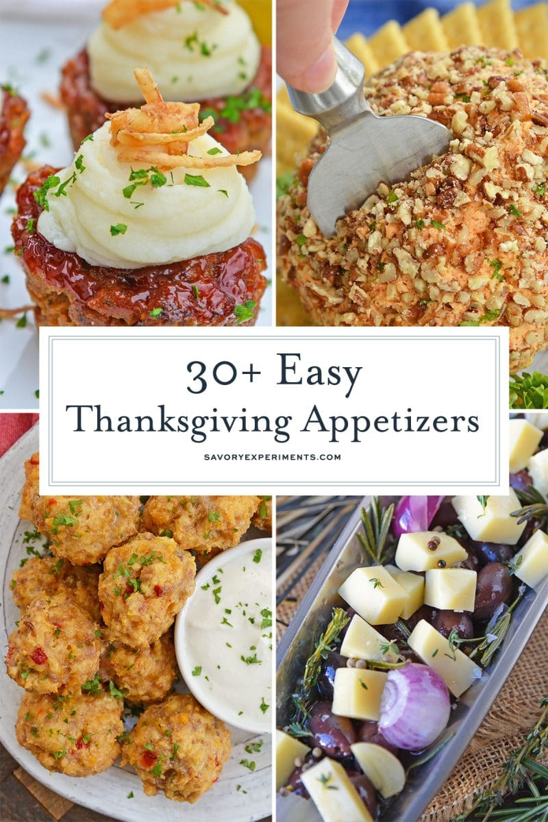 Thanksgiving appetizer ideas collage