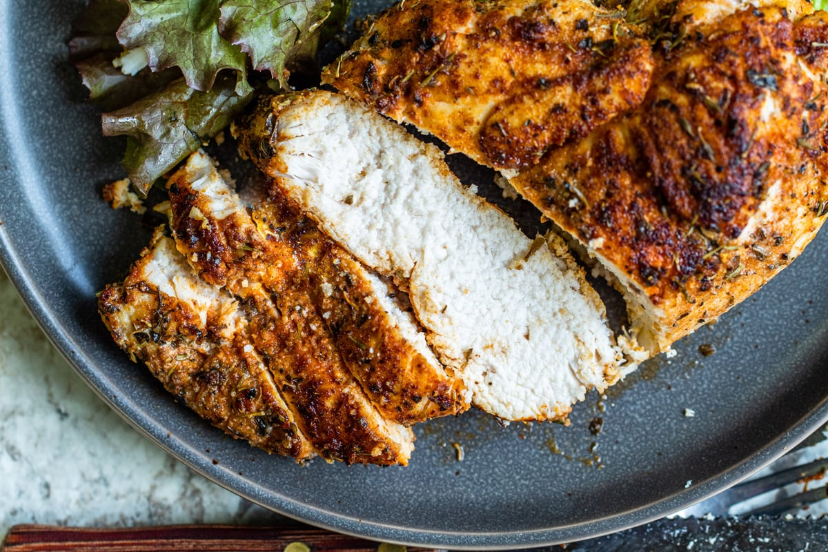 sliced blackened chicken breast