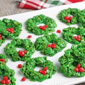 tray of wreath cookies