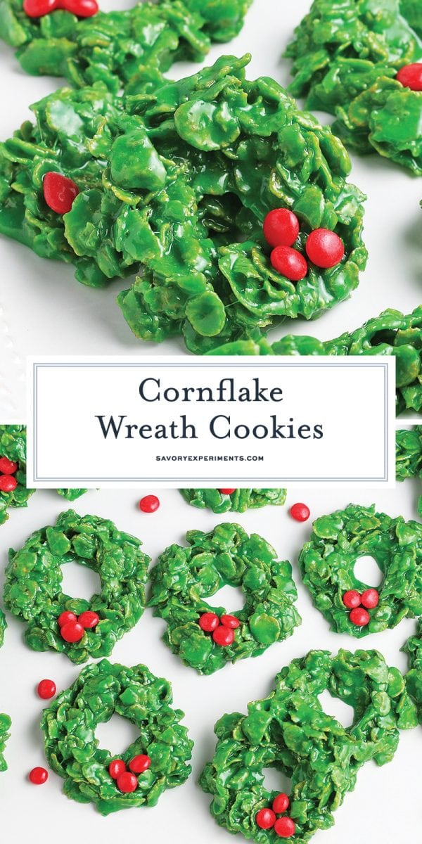 cornflake wreath cookies for pinterest