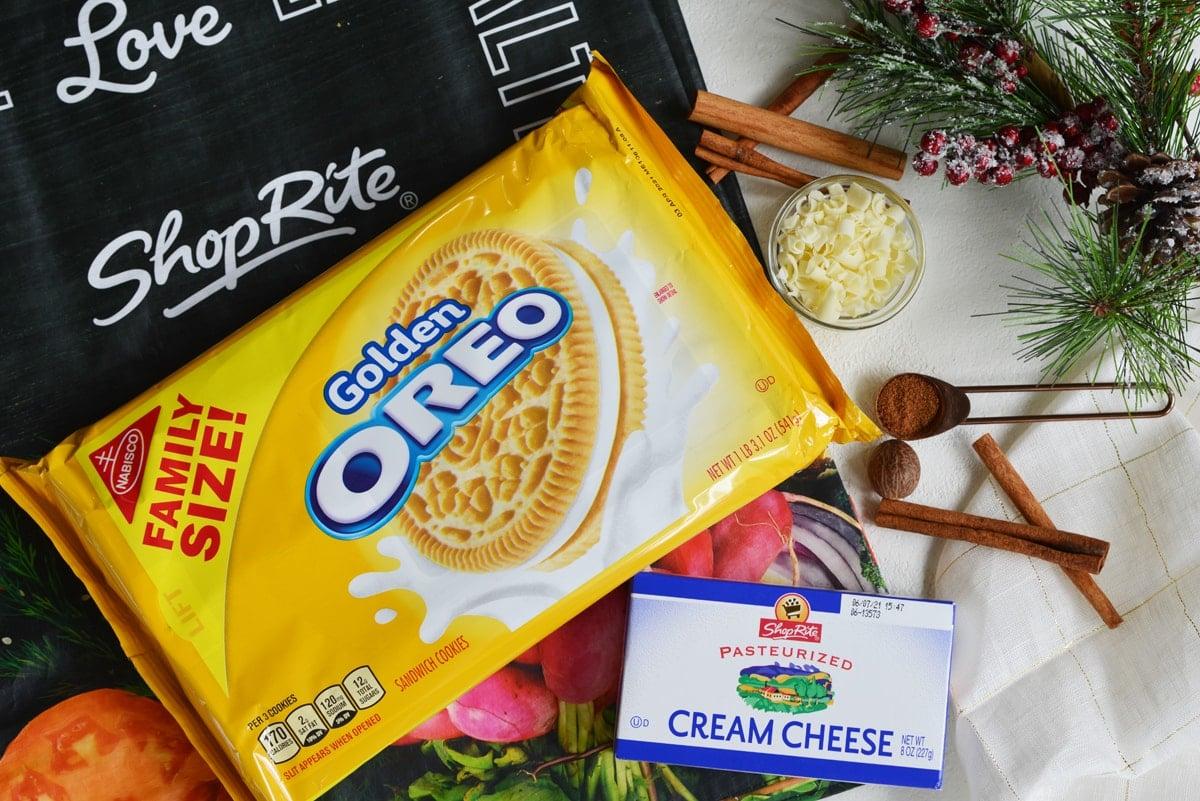 ingredient for eggnog oreo cookie balls