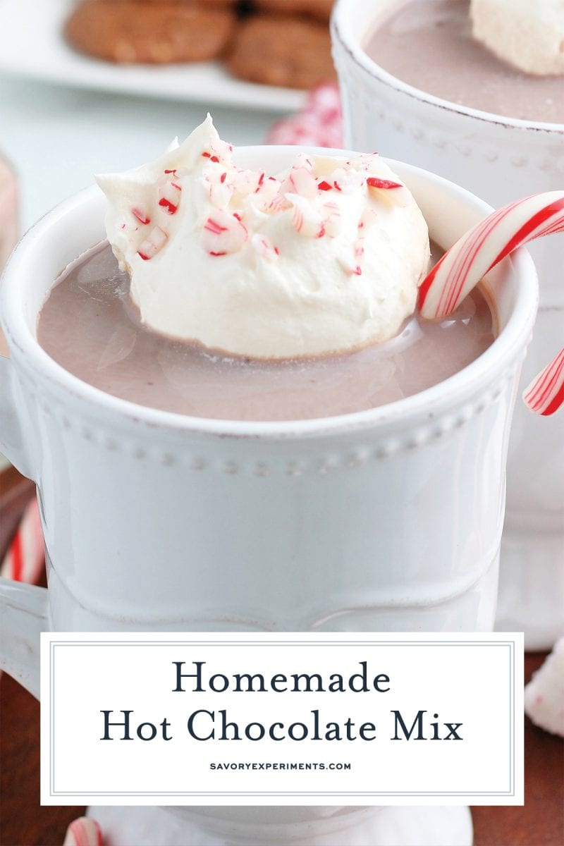 homemade hot chocolate mix for pinterest