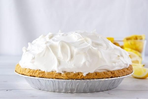 meringue dome on lemon pie