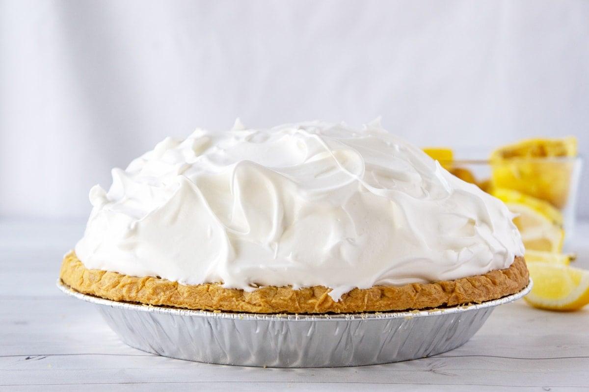 uncooked lemon meringue dome