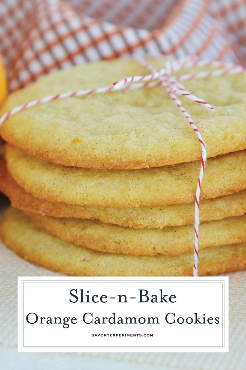 close up of a stack of cookies for pinterest