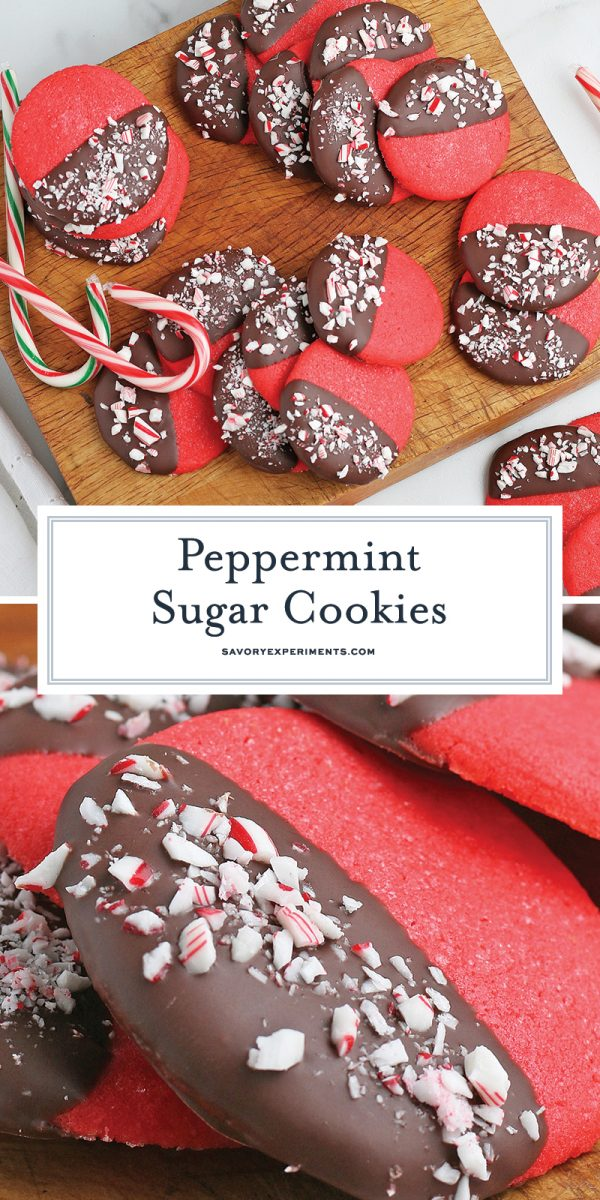long pin for peppermint sugar cookies