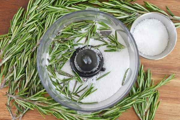 ingredients for rosemary salt