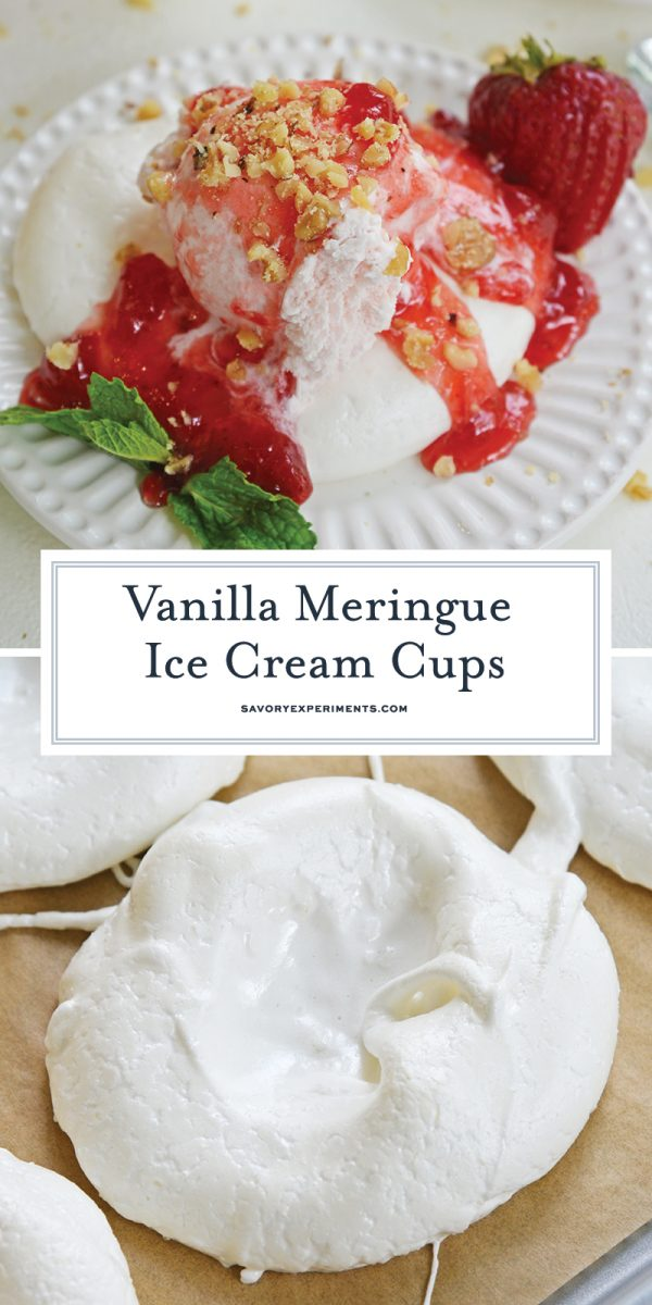 vanilla meringue cups for ice cream for pinterest