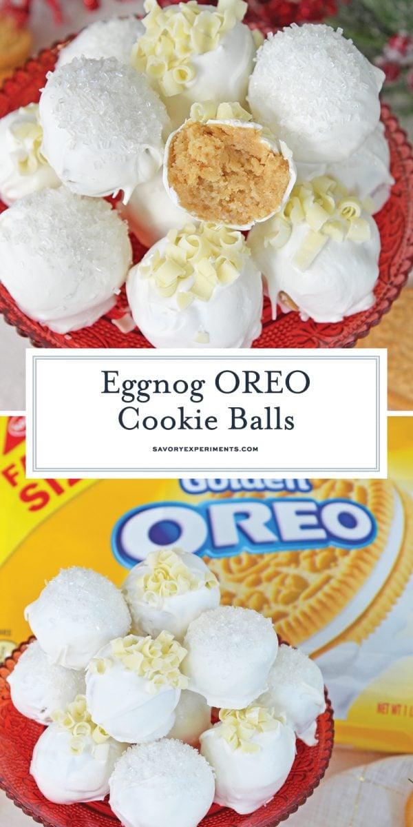 oreo cookie eggnog truffles for pinterest