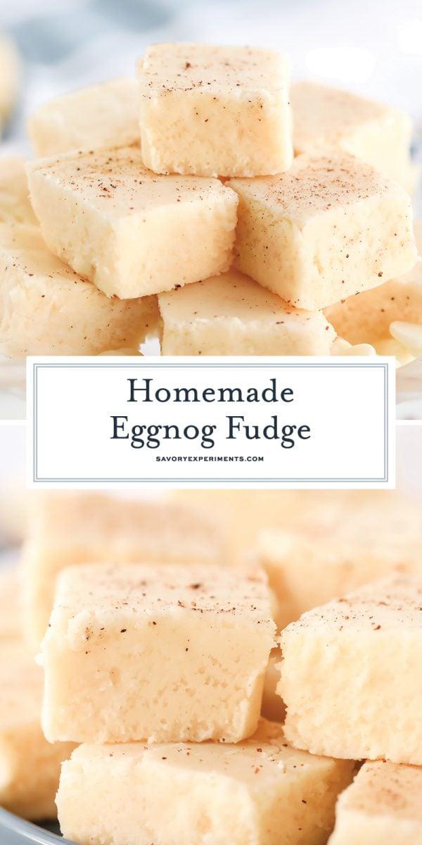 homemade eggnog fudge for pinterest