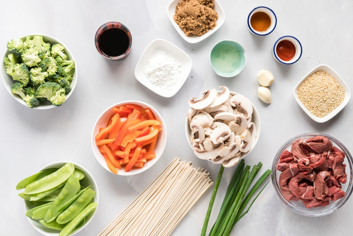 ingredients for beef lo mein