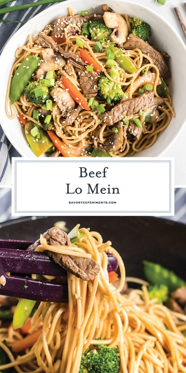 beef lo mein for pinterest