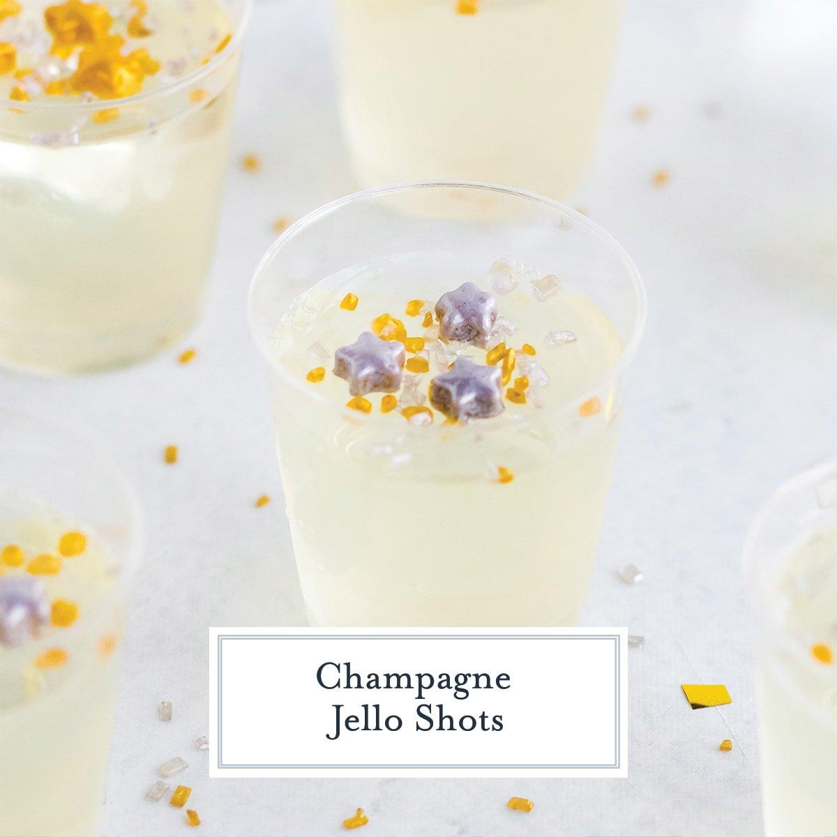 angle of champagne jello shot