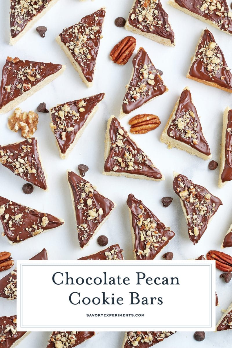 spread out chocolate pecan cookie bars