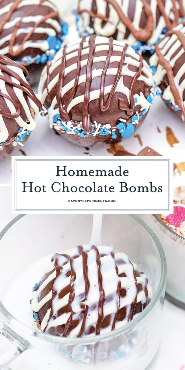 homemade hot chocolate bombs for pinterest