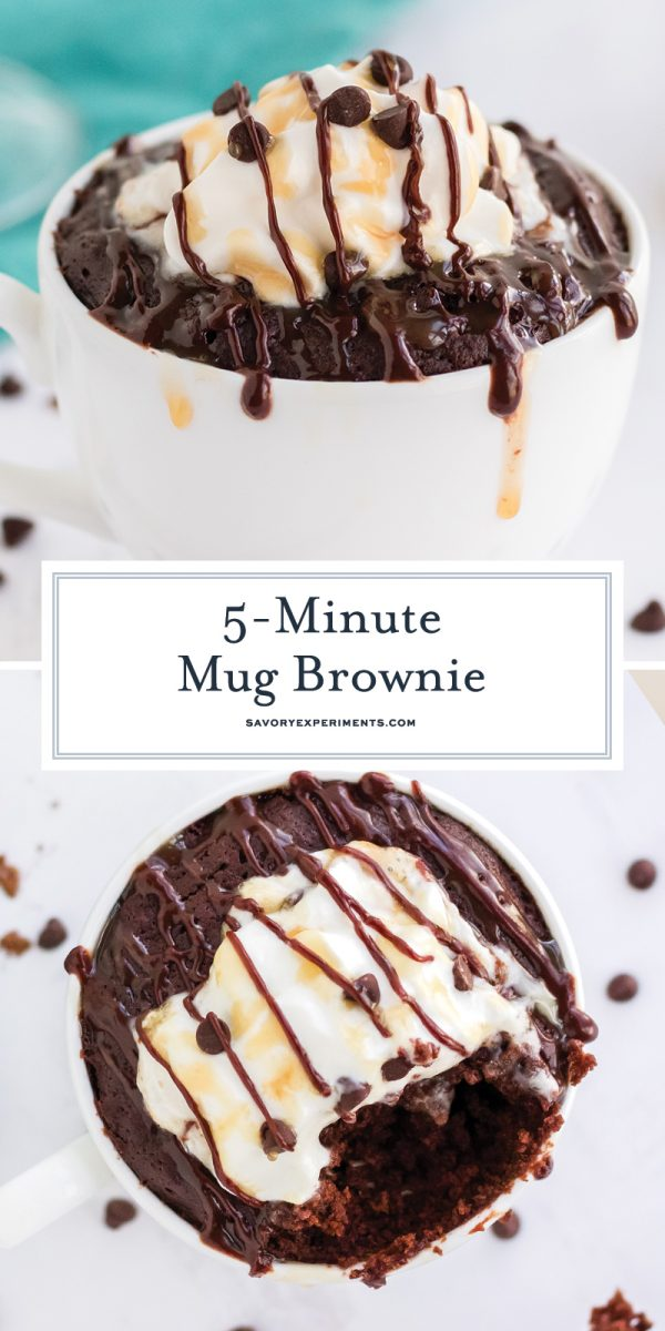 brownie in a mug for pinterest