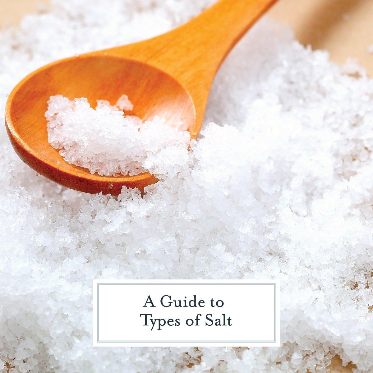 wooden tasting spoon with sea salt