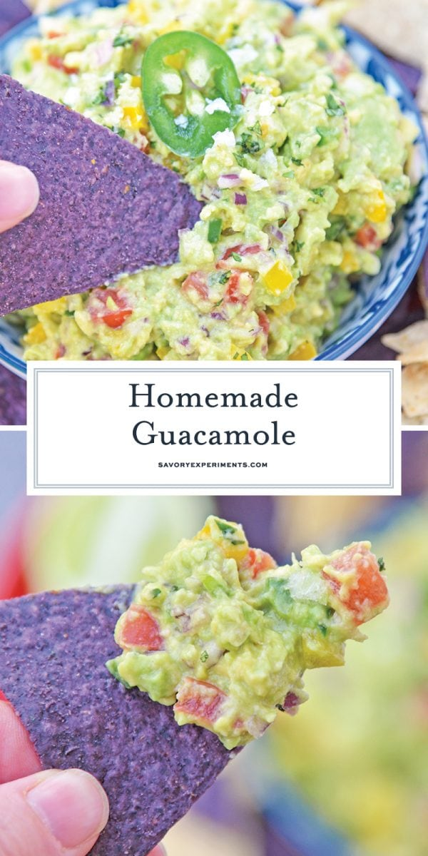 easy homemade guacamole for pinterest