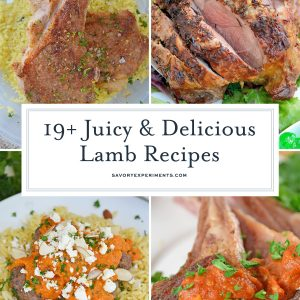 collage of lamb recipes