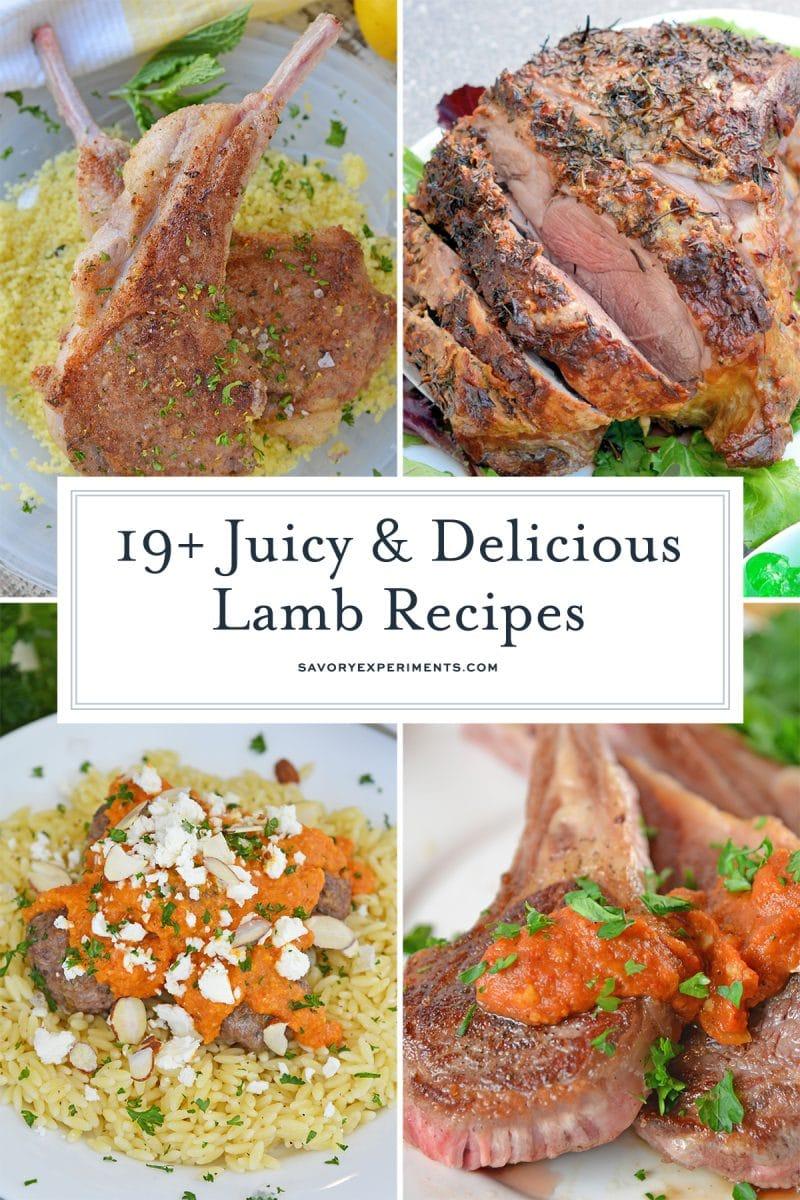 collage of delicious lamb recipes