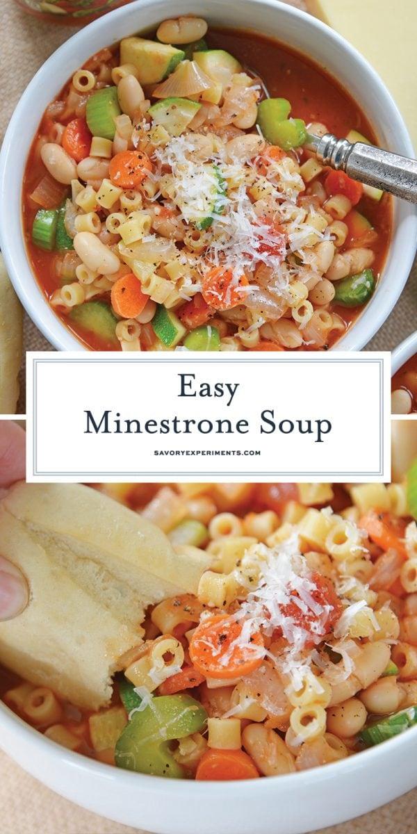 easy minestrone soup for pinterest