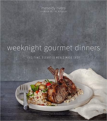 book cover of weeknight gourmet dinners