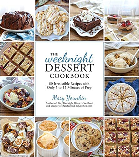 book cover of weeknight dessert cookbook