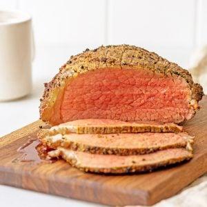 sliced round roast