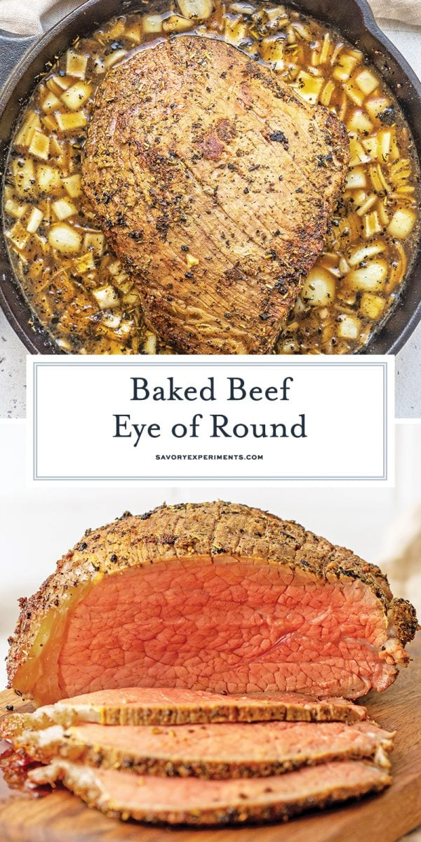 baked eye or round roast for pinterest