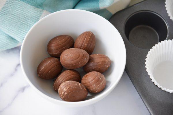 frozen cadbury eggs in a bowl